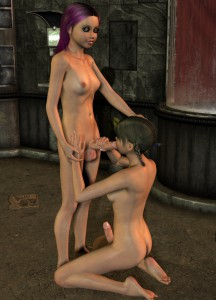 3d futa babes suck each other's dicks